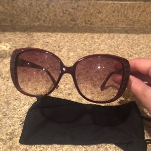 Dior Authentic Sunglasses.  Color Red